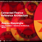 Watch WSO2 Talk on Connected Finance Reference Architecture